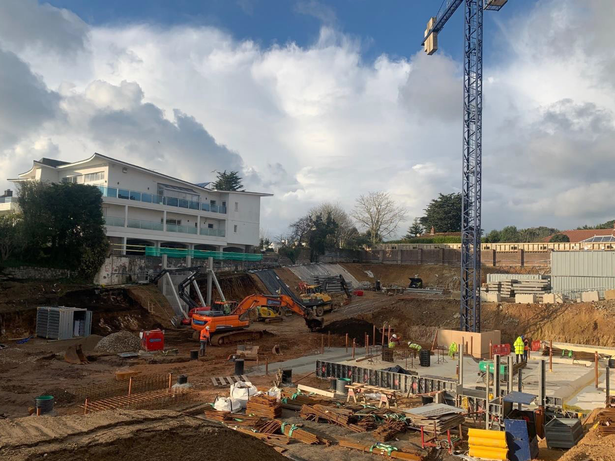 ONE ST BRELADE FOUNDATION WORKS PUSH AHEAD | Axis Mason