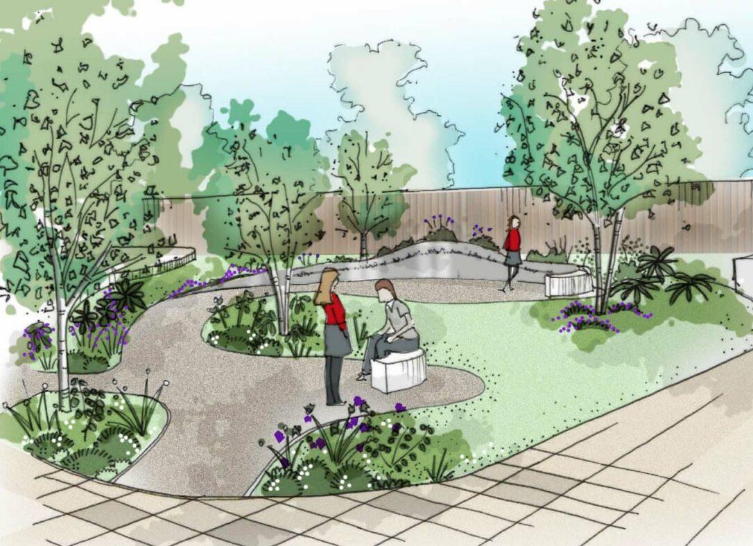 Harrys Memorial Garden Sketch